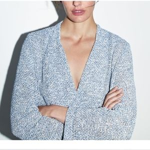 💠 NWT Zara Double Breasted Textured Wave Blazer💠